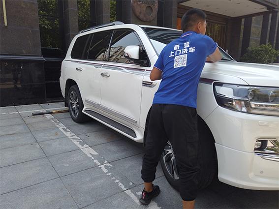 郑州上门洗车加盟,蔚蓝洗车是最好的选择!
